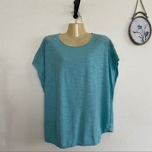 Chaps Boxy Short Sleeve Top